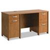 Bush® Envoy Double Pedestal Desk (Box 2 of 2), 58w x 23 1/4d x 30 1/4h, Natural Cherry BSHPR76360A2