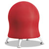 "Zenergy Ball Chair, 22 1/2"" Diameter x 23"" High, Crimson/Silver"