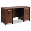 Bush® Envoy Double Pedestal Desk (Box 1 of 2), 58w x 23 1/4d x 30 1/4h, Hansen Cherry BSHPR76560A1