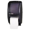 San Jamar® Duett Standard Bath Tissue Dispenser, 2 Roll, 7 1/2w x 7d x 12 3/4h, Black Pearl SJMR3500TBK