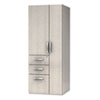 e5 Series Wardrobe Tower, 23-1/2w x 23-1/2d x 62h, Summer Suede
