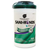 "Sani-Hands Hand Wipes with Tencel Large Canister - 7.50"" x 5.50"" - Tencel - Dye-free, Fragrance-free NICP92084"