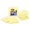 Post-it® Pop-up Notes Super Sticky Pop-up Notes Refill, Lined, 4 x 4, Canary Yellow, 90-Sheet, 5/Pac MMMR440YWSS