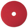 "Low-Speed Buffer Floor Pads 5100, 19"" Diameter, Red, 5/Carton"