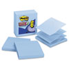 Post-it® Pop-up Notes Super Sticky Pop-up Notes Refill, Lined, 4 x 4, Periwinkle, 90-Sheet, 5/Pack MMMR440AQSS