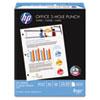 HP Office Ultra-White Paper, 92 Bright, 3-Hole, 20lb, 8-1/2 x 11, 500/Ream HEW113102