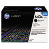 HP 643A, (Q5950A) Black Original LaserJet Toner Cartridge