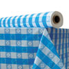"<strong>Atlantis Plastics</strong><br />Plastic Table Cover, 40"" x 300 ft Roll, Blue Gingham"