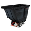 <strong>Rubbermaid® Commercial</strong><br />Rotomolded Tilt Truck, Rectangular, Plastic, 850 lb Capacity, Black