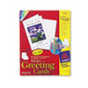 Avery® Half-Fold Greeting Cards, Inkjet, 5 1/2 x 8 1/2, Matte White, 20/Box w/Envelopes AVE3265