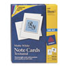 Avery® Textured Note Cards, Inkjet, 4 1/4 x 5 1/2, Uncoated White, 50/Bx w/Envelopes AVE3379