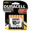 Duracell® CopperTop Alkaline Batteries with Duralock Power Preserve Technology, AAA, 12/Pk DURMN24RT12Z