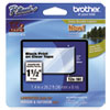 "<strong>Brother P-Touch®</strong><br />TZe Standard Adhesive Laminated Labeling Tape, 1.4"" x 26.2 ft, Black on Clear"