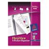 Avery® Flexi-View Six-Pocket Polypropylene Organizer, 150-Sheet Cap., Translucent/Navy AVE47696
