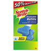 "Scotch-Brite™ Disposable Toilet Scrubber Refill, 3"", Blue, 10/Pack MMM557R106"