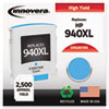 Remanufactured C4907AN (940XL) High-Yield Ink, 1400 Page-Yield, Cyan
