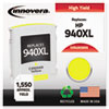 Remanufactured C4909AN (940XL) High-Yield Ink, 1400 Page-Yield, Yellow