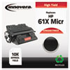 Remanufactured C8061X(M) (61XM) High-Yield MICR Toner, 10000 Page-Yield, Black