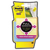 Post-it® Notes Super Sticky Full Adhesive Notes, 3 x 3, Ruled, New York Colors, 4/Pack MMMF3304SSAL