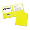 Avery® Two-Pocket Folder, 20-Sheet Capacity, Yellow, 25/Box AVE47992