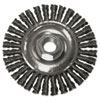 "<strong>Anchor Brand®</strong><br />String Bead Wheel Brush, 4"" Dia, Steel, .02 Wire"