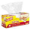 Glad® Fold-Top Sandwich Bags, 6 1/2 x 5 1/2, Clear, 180/Box CLO60771