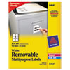 Avery® Removable Multi-Use Labels, 3 1/3 x 4, White, 150/Pack AVE6464