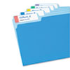 Avery® X-Large 1/3-Cut File Folder Labels w/TrueBlock, 15/16 x 3 7/16, WE/ASST, 450/PK AVE5026