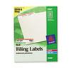 Avery® Permanent File Folder Labels, TrueBlock, Inkjet/Laser, Red, 1500/Box AVE5066
