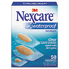 3M Nexcare™ Waterproof, Clear Bandages, Assorted Sizes, 50/Box - 432-50-3
