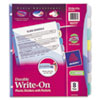 Avery® Write-On Big Tab Plastic Dividers, 8-Tab, Letter AVE16177