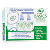 Dial® Professional Duo Basics Hand Wash Dispenser Kit, 7 1/4x3 7/8x11 3/4, 1250 mL Cartridge, Smoke DIA09398