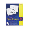 Avery® Note Cards, Laser Printer, 4 1/4 x 5 1/2, Uncoated White, 60/Pack with Envelopes AVE5315