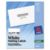Avery® Copier Address Labels, 1 1/2 x 2 13/16, White, 2100/Box AVE5360