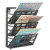 Safco® Grid Magazine Rack, Three Compartments, 9-1/2w x 5-1/2d x 13-1/2h, Black SAF4660BL