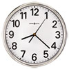 "<strong>Howard Miller®</strong><br />Hamilton Wall Clock, 12"" Overall Diameter, Silver Case, 1 AA (sold separately)"