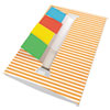 Redi-Tag® Orange Stripe Designer Pop-Up Page Flag Dispenser, 4 Pads of 35 Flags Each RTG75012