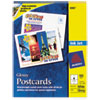 Avery® Photo-Quality Glossy Postcards for Inkjet Printers, 4 1/4 x 5 1/2, White, 100/Pk AVE8383