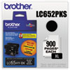 Brother LC652PKS High Yield Black Ink Cartridge 2 Pack