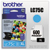Brother LC75C High Yield Cyan Ink Cartridge