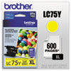 Brother LC75Y High Yield Yellow Ink Cartridge