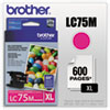 Brother LC75M High Yield Magenta Ink Cartridge