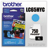 Brother LC65HYC High Yield Cyan Ink Cartridge