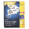 Avery® Clean Edge Business Card Value Pack, Laser, 2 x 3 1/2, White, 2000/Box AVE5870