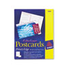 Avery® Postcards, Color Laser Printing, 4 x 6, Uncoated White, 2 Cards/Sheet, 80/Box AVE5889