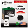 Remanufactured 10N0016 (16) Ink, 335 Page-Yield, Black