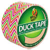 """Duck® Colored Duct Tape, 9 mil, 1.88"""" x 10 yds, 3"""" Core, Zig Zag DUC280978"""