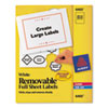 Avery® Removable Multi-Use Labels, 8 1/2 x 11, White, 25/Pack AVE6465