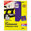 PERMANENT ID LABELS W/ SURE FEED TECHNOLOGY, INKJET/LASER PRINTERS, 1.25 X 1.75, WHITE, 32/SHEET, 15 SHEETS/PACK