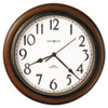 "<strong>Howard Miller®</strong><br />Talon Auto Daylight-Savings Wall Clock, 15.25"" Overall Diameter, Cherry Case, 1 AA (sold separately)"